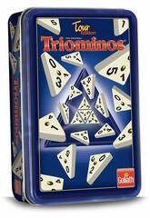 Triominos Tour Edition con Scatola Metallica Goliath 60632