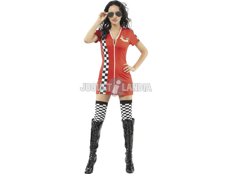 Aeromoça Mulher Racing Costume Tamanho L
