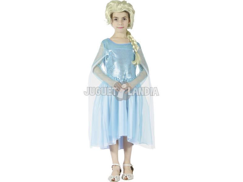 Disfraz Princesa Azul de las Nieves Niña Talla S