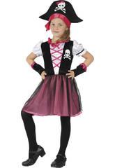 Maschera Pirata Bambina Taglia S