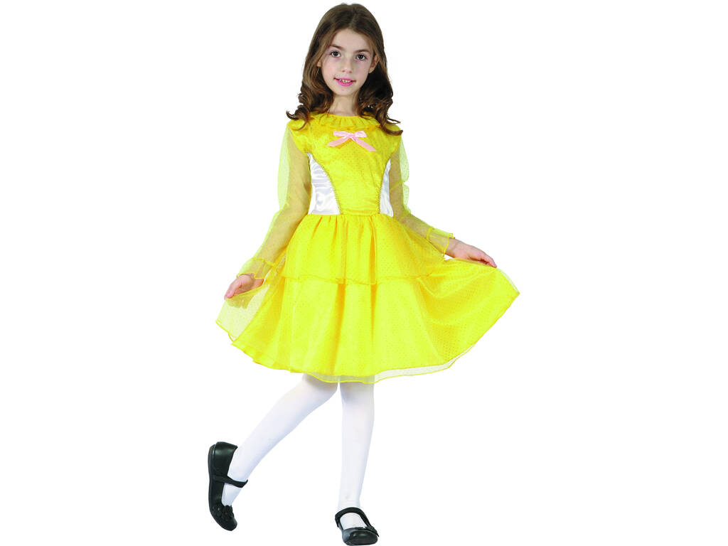 Disfraz Princesa Amarilla Niña Talla XL