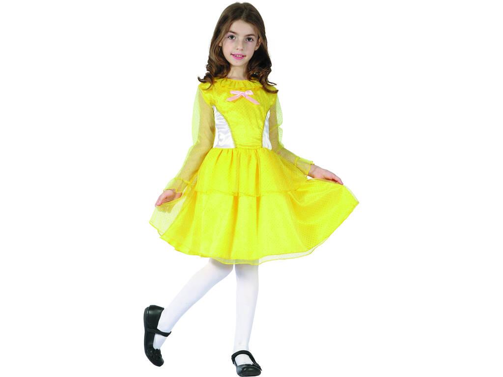 Maschera Principessa Gialla Bambina Taglia XL