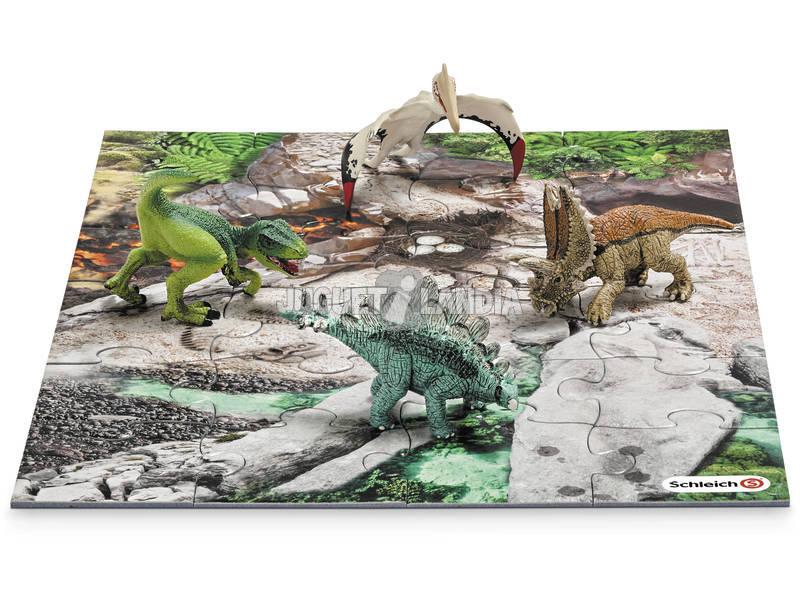 Mini Dinos com Puzzle