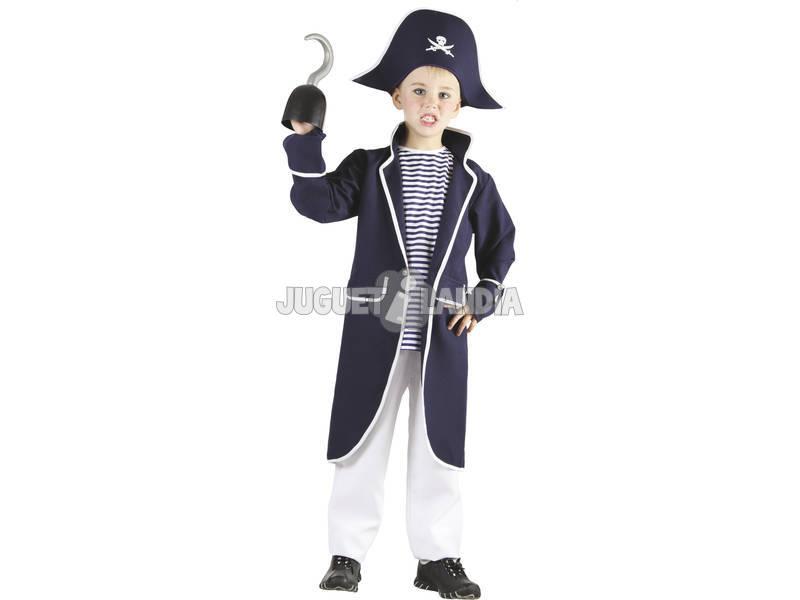 Fantasia Capitão Pirata Marinheiro Meninos Tamanho L