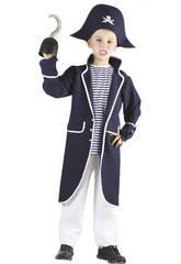 Disfraz Capitan Pirata Marinero Niños Talla L