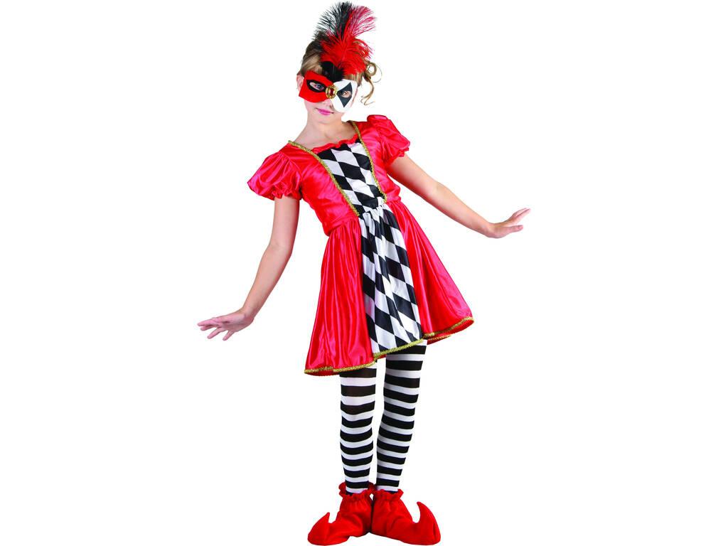 Déguisement Clown Arlequin Fille Taille S