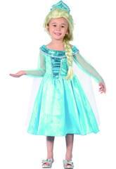 Disfraz Princesa Azul de Bebé Talla S