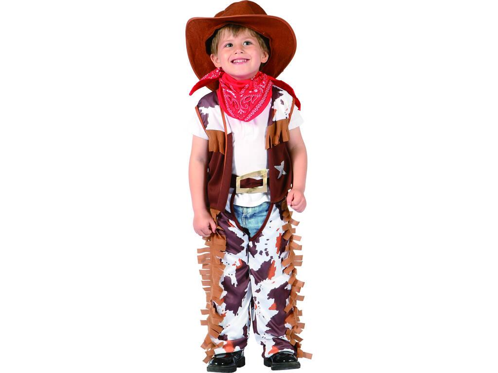 Maschera Cow Boy per Bebè Taglia M