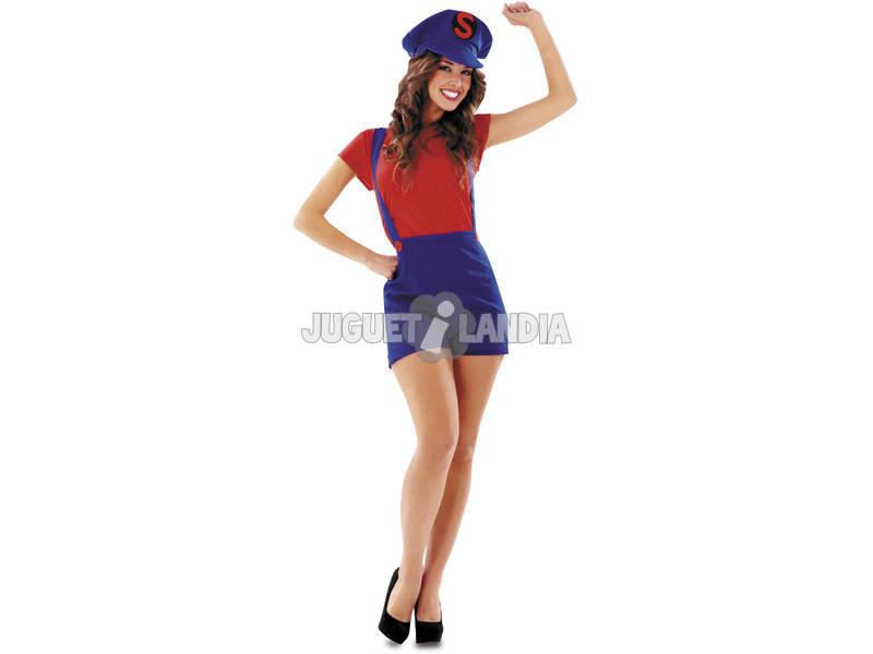 Fantasia Mulher L Super Lady Vermelha