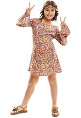 Disfraz Niña S Hippie Psicodélica