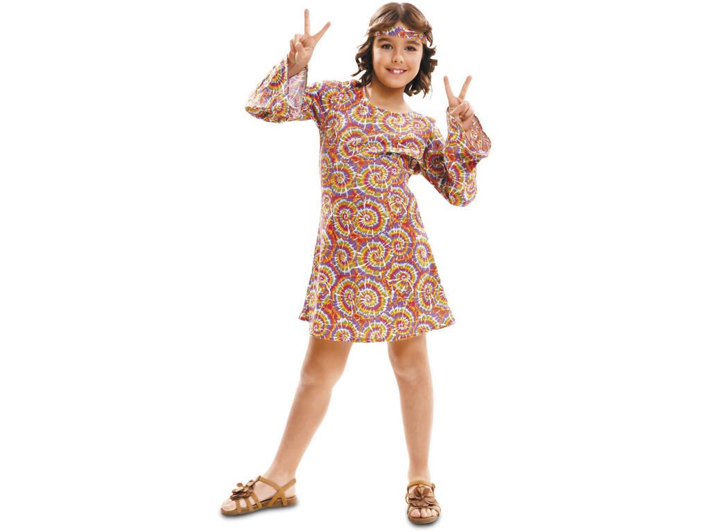 Costume Ragazza XL Hippie Psichedelica
