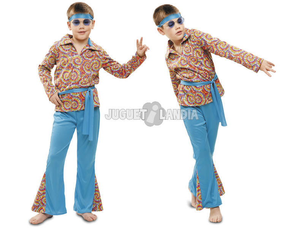 Disfarce Menino XL Hippie Psicodélico