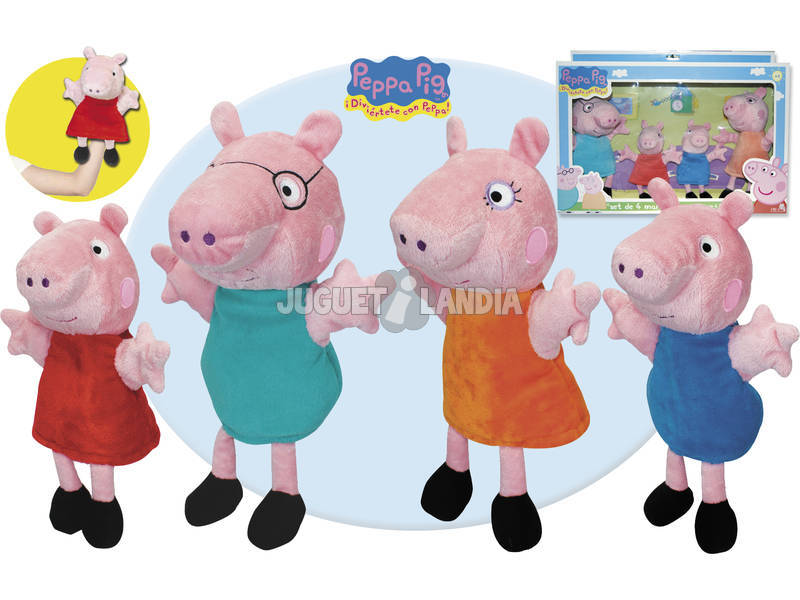Peppa Pig 4 marionnettes