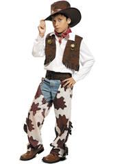 imagen Disfraz Niño L Vaquero Blanco y Marrón con Sombrero