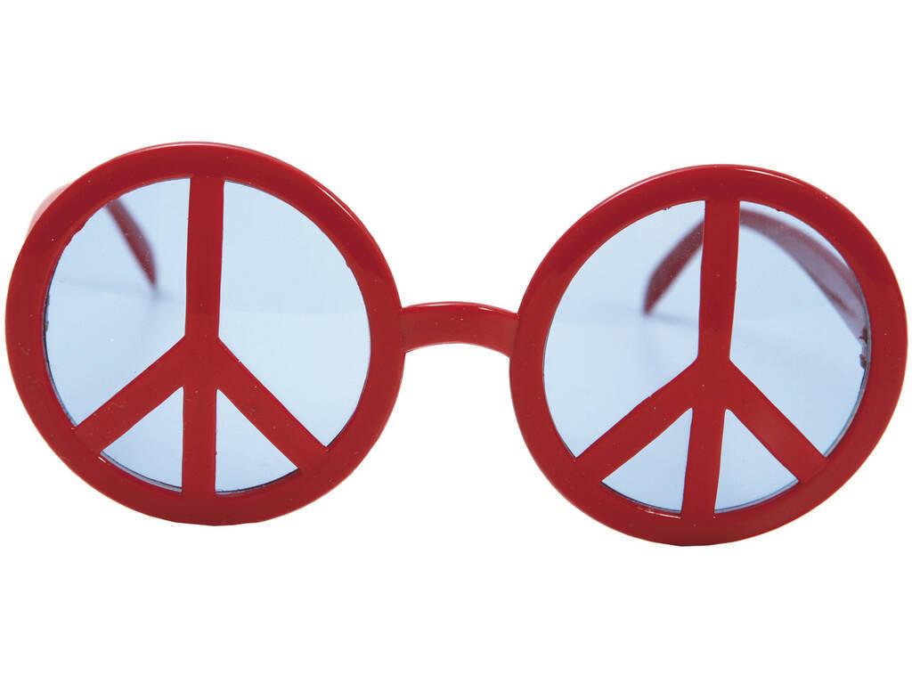 Óculos Símbolo da Paz Vermelhos