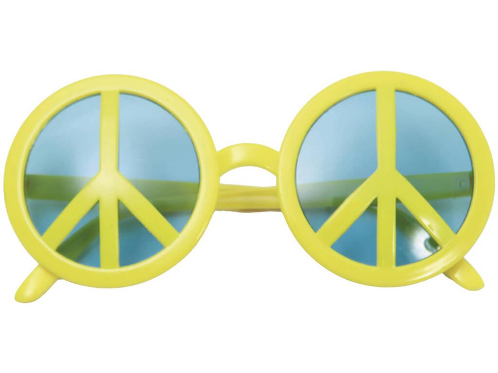 Occhiali Simbolo della Pace Gialli