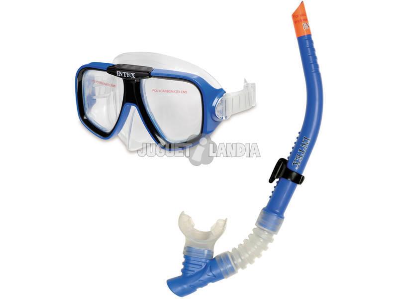 Máscara Buceo Con Tubo Rider Swim Intex 55948