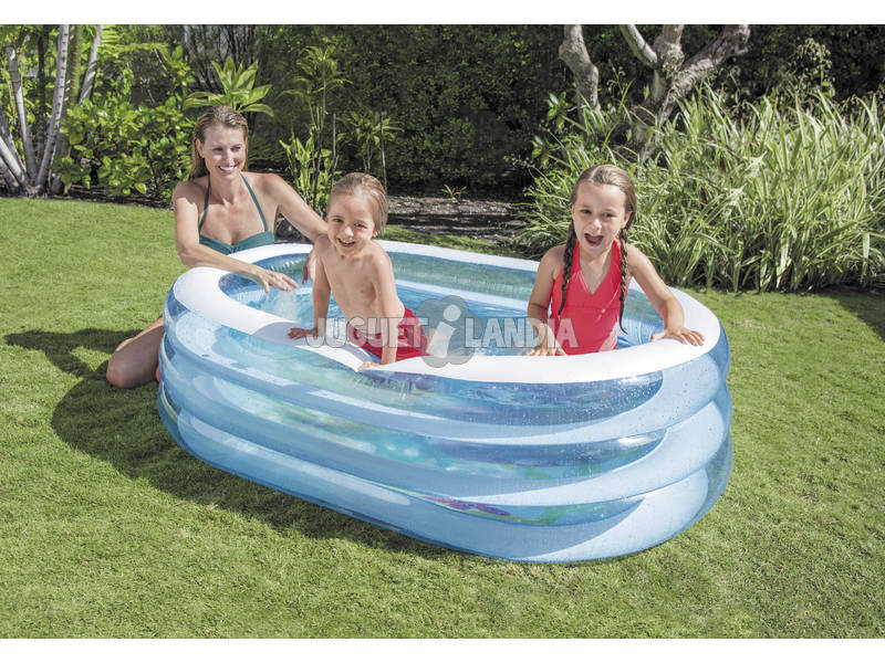 Acheter piscine gonflable fond marin 3 boudins 163 x 107 x for Piscine 3 boudins intex