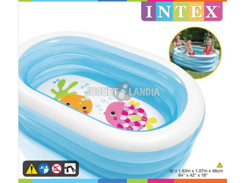 Acheter piscine gonflable fond marin 3 boudins 163 x 107 x for Acheter piscine intex