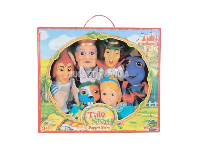 Marionetas set Alicia en el pais de las maravillas