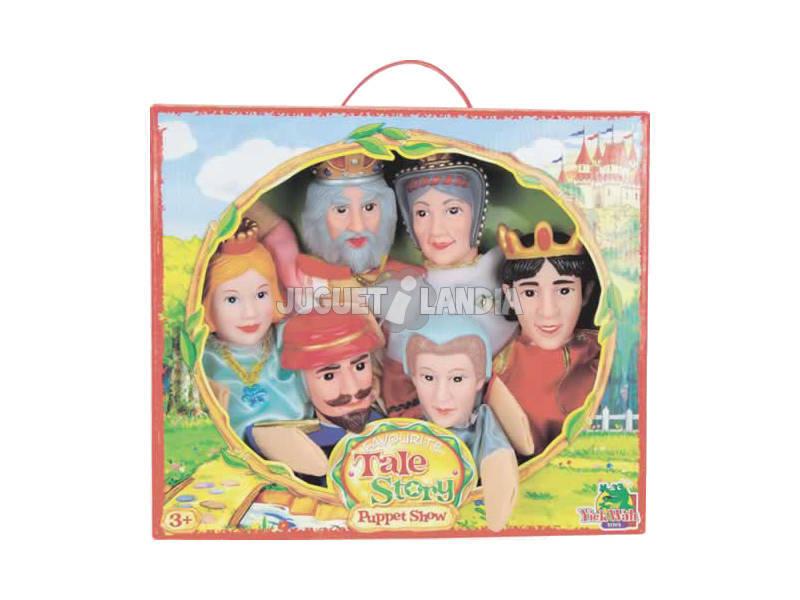 Marionetas set 6 unidades La Princesa y el Guisant