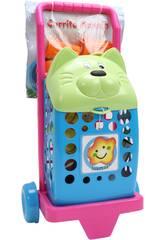 Carrito compra de Juguete Gato con accesorios
