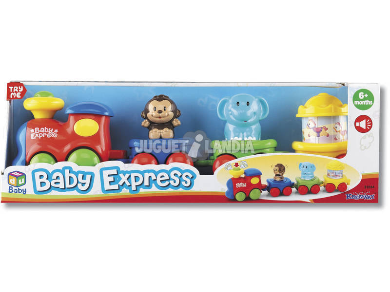 Comboio Baby Express com 3 vagões