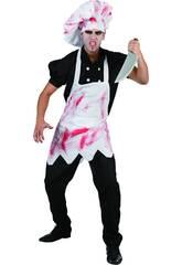 Kostüm Grausamer, blutbeschmierter Koch Mann Größe L