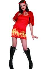 Costume Diavolessa Fiamme Donna L