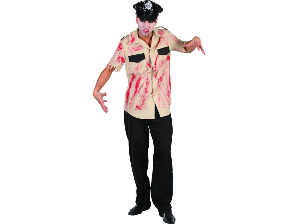 Maschera Poliziotto sanguinolento uomo Taglia XL