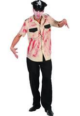 Kostüm Blutbeschmierter Polizist Mann Größe XL