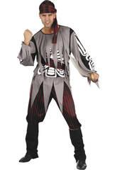 Disfraz pirata esqueleto hombre Talla XL
