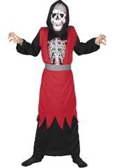 imagen Disfraz Esqueleto Malvado Niño Talla XL