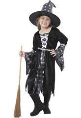 Disfraz Bruja Araña Plateada Niña Talla XL