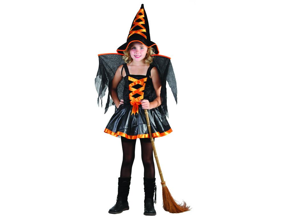 Déguisement sorcière orange avec ailles fille taille L