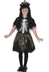 Disfraz Princesa Esqueleto Niña Talla L