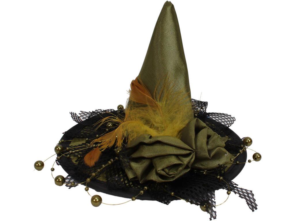 Cappello strega verde mini