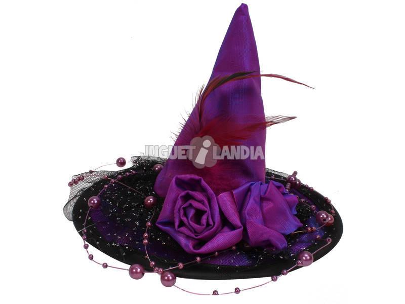 Mini chapéu lilás 14.5 cm. bruxa