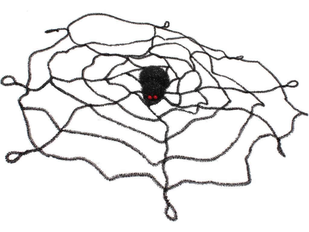 Teia de aranha com aranha