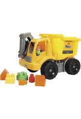 Camion 49 cm avec des bloques de construction de 32 pièces