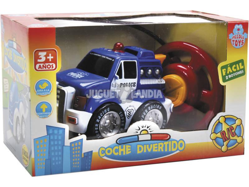 Radio Control coche de Policía con luces de 16 cm.