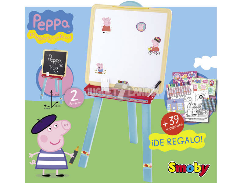 Peppa Pig pizarra con estuche