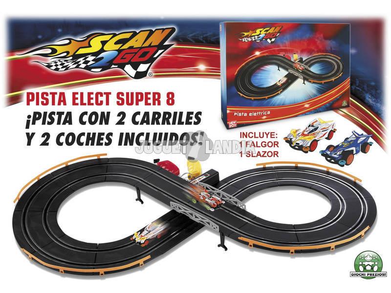 Scan 2 go pista electrica con 2 coches super 8