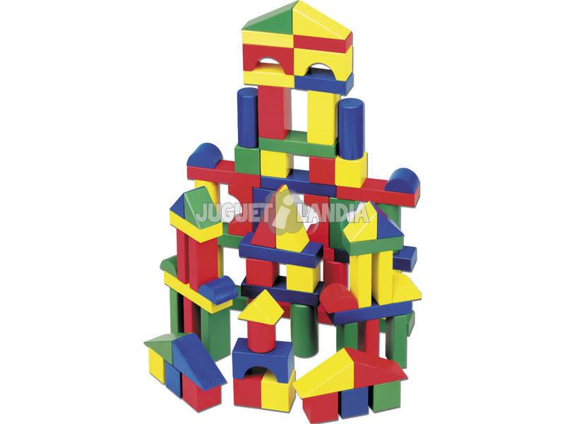 100 bloques de madera construcción