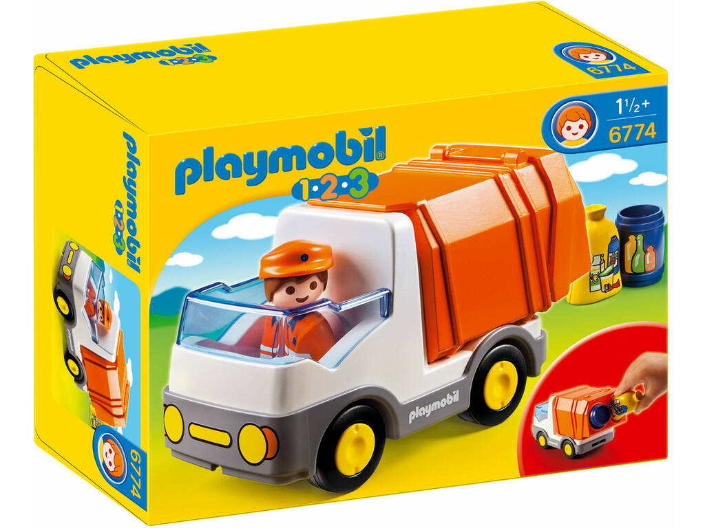 Playmobil 1.2.3 Camion de basura