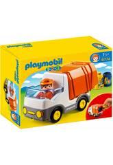 Playmobil 1.2.3 Camion smaltimento rifiuti