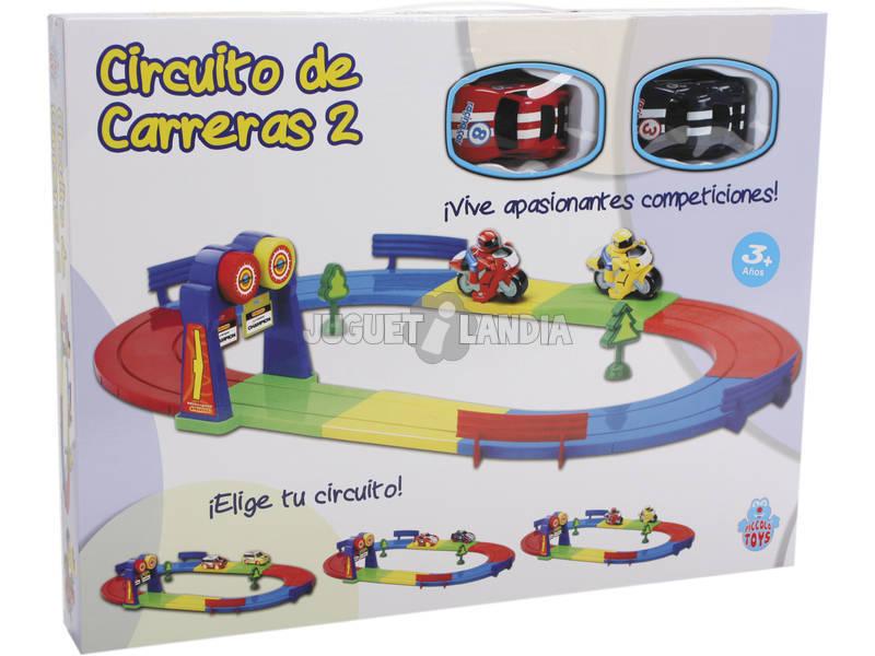 Circuito de Corridas com 2 Veículos de Brinquedo