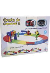 Circuito De Carreras Con 2 Vehículos de Juguete