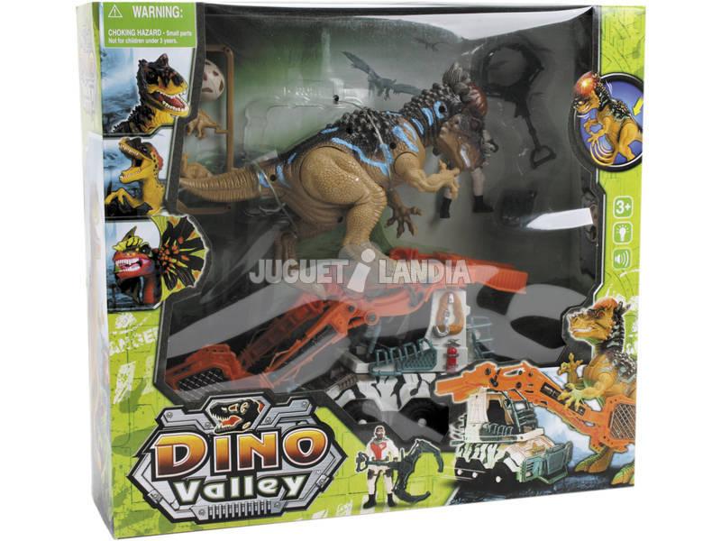 Dinovalley Dinosauro Con Veicolo e Accessori