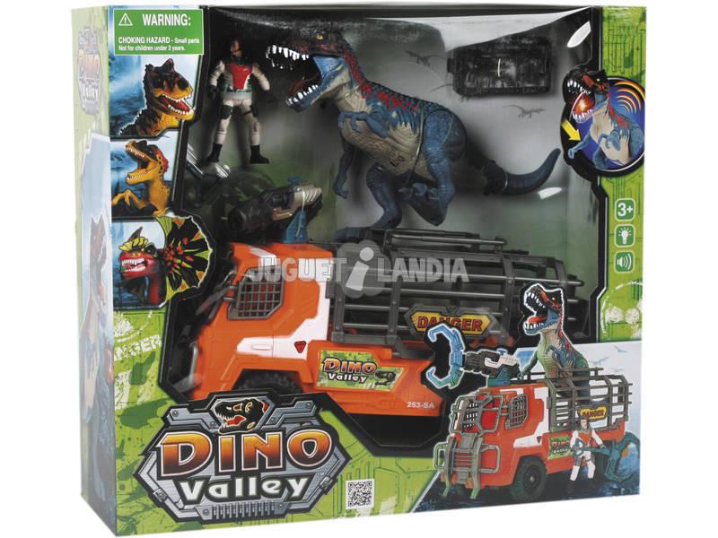 Dinovalley Dinosaure avec camion et accessoires